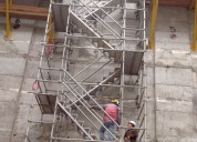 Fabricamos andamios con escaleras de acceso para la construcción venta y alquiler andamios