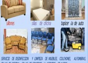 Limpieza de muebles y afombras a domicilio al mejor precio