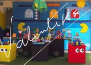 Pacman  fiestas infantiles , decoraciones tematicas , toldos infantiles en lima