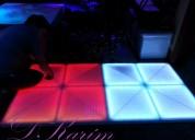 Alquiler de pistas de baile led, luces, salas lounge