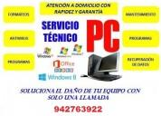 ReparaciÓn de computadoras y laptops a domicilio 942763922