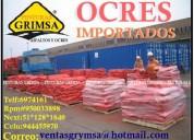 Super venta de ocres importados y nacionales , rojo, amarillo, azul ultramar, gris, blanco  95003389