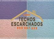 Acabados originales para techos:escarchador víctor lama le ofrece presupuestos al 999 997 222-
