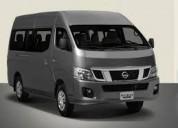 alquiler de minivan nissan urvan de 15 asientos
