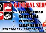 Electricista y gasfitero
