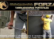 Tarrajeadoras forza – mÁquinas  para revestimiento  de paredes