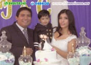 Filmación de bodas, matrimonios civil y religioso