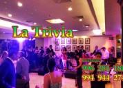 """Grupo musical; fiesta de promociones """"orquesta la trivia música variada en lima perú"""" cel. 996"""