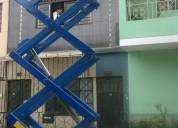 alquiler y venta elevadores hidrahÚlicos tipo tijera 6 y 8 metros altura 997470736/4252269