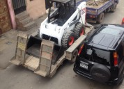 Servicio de transporte de maquinaria pesada en todo lima con cama baja 4252269/997470736