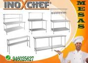 Mesas y lavaderos de acero inoxchef