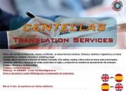 Servicio de traducción inglés/español/inglés