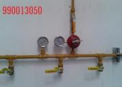 Aviso para instalacion de gas.