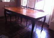 Vendo mesa de ocho sillas de segunda