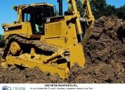 alquiler de tractor oruga cat d7r y cat d8r con ripper