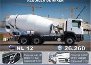 Alquiler de mixer de 7 y 8 m3 camion hormigonera