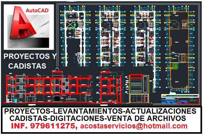 SERVICIOS DE AUTOCAD, CADISTAS, ELABORACION DE MAQUETAS, CHICLAYO, PIURA, JAEN, BAGUA, CHACHAPOYAS