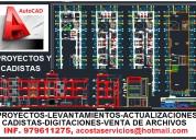 Servicios de autocad, cadistas, digitaciones, actualizaciones, proyectos, jaen, bagua, chachapoyas,
