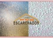 ¿sientes que tus techos necesitan escarchado? te ofrecemos el acabado   tlf:.999 997 222