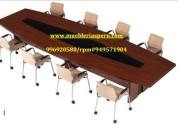 Mesa de directorio - mesa de melamina - mesa de conferencia - escritorio gerencial- counter