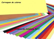 Corrospum de colores  por rollo