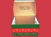 Cajas navideÑas de carton corrugado
