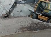 alquiler de excavadora sobre llantas - alo grÚas maquinarias
