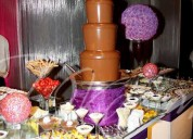 Piletas de chocolate, cascadas de chocolate, fuentes de chocolate lima