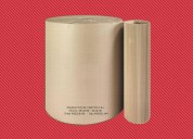 Carton corrugado en rollos de  1.10 - 1.23 - 1.64 mt de ancho