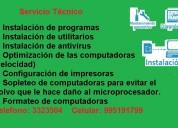 Brindo servicio de soporte técnico para computadoras