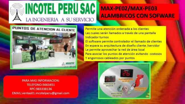 TURNOMATICOS CON 02,03 DÍGITOS/INCOTEL/SAN MIGUEL
