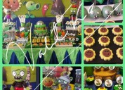 Plants vs zombies  fiestas  infantiles , candy bar , decoraciones