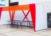 Estrados - escenarios - toldos - stands - decoración - sonido - luces - proyectores con ecran