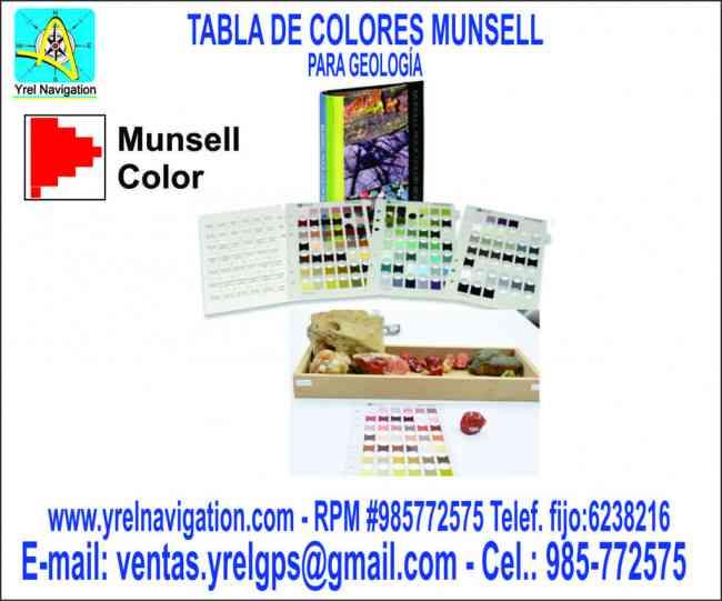 Tabla de colores Munsel para suelos