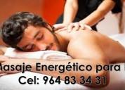 Masajes energeticos para hombres por una señorita