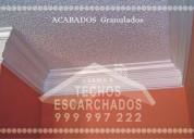 servicio de texturizados de techo y pared: con maquina; tlf:.  999 997 222-