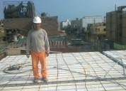 Construccion de techos aligerados precios comodos hacemos columnas muros paredes y mucho mas