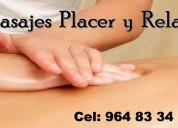 Masajes placer y relax para hombres a domicilio y hoteles