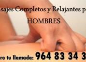 Masajes completos y relajantes para hombres