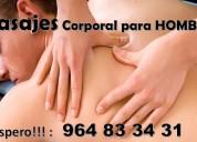 Masajes corporales para hombres a hoteles y domicilio