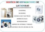 Servicio de reparaciones de lavadoras y secadoras frigidaire