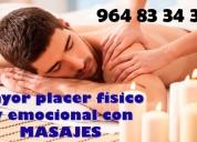 Mayor placer fisico y emosional con masajes para hombres