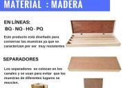 Cajas porta testigos en cartÓn plast - plÁstico y madera