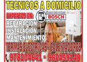 Profesional técnico de termas bosch a gas y eléctrica en san borja 960459148 para consultas .