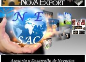 Consultoría en comercio internacional - desarrollo de importaciones & exportaciones