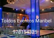 Toldos  eventos maribel