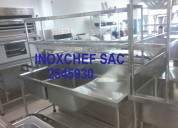 Mesas cocinas lavaderos tabola campana acero inox lima peru
