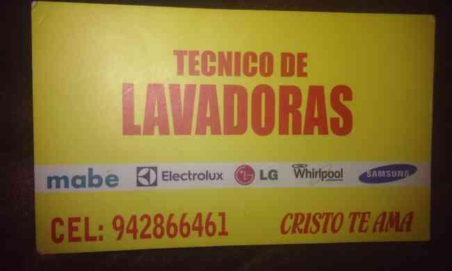 REPARACION TECNICO LAVADORAS REFRIGERADORAS