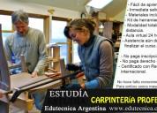 Curso de carpinteria con materiales y herramientas a distancia