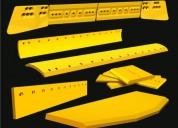 Cuchillas cantoneras para caterpillar